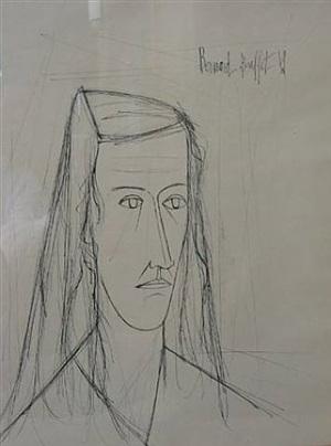 portrait by bernard buffet
