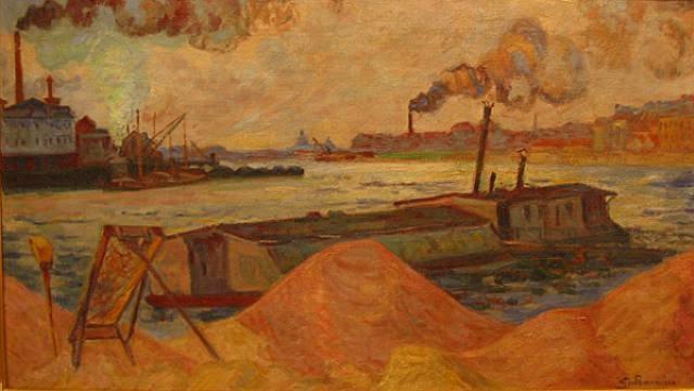 les quais de la seine à ivry by armand guillaumin