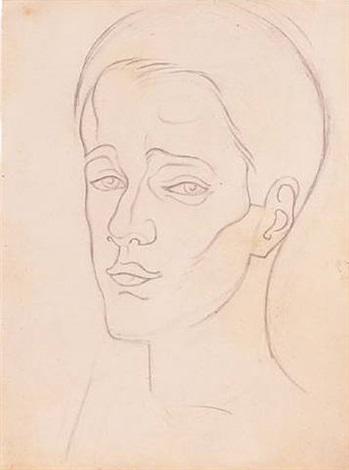 tête d'homme by juan gris