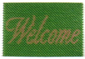 doormat: welcome (green) by do ho suh