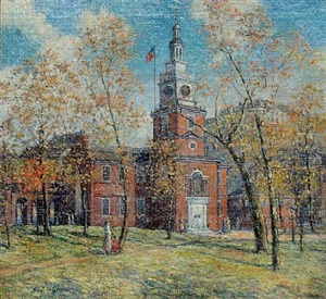 independence hall by albert van nesse greene
