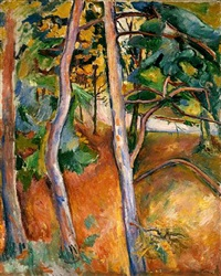 trees, autumn by achille emile othon friesz