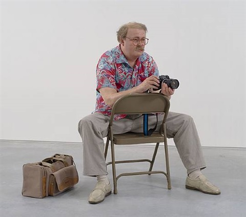 man with camera by duane hanson