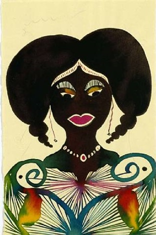 ohne titel (female head g) by chris ofili