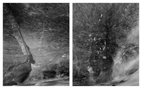 morteratsch glacier (diptych) by guido baselgia