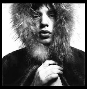 "mick jagger ""fur hood"" by david bailey"