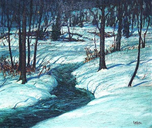 a winter nocturne by george william sotter