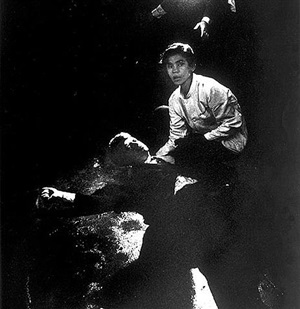 busboy juan romero tries to comfort presidential candidate bobby kennedy after assassination attempt, june 5, 1968 by bill eppridge