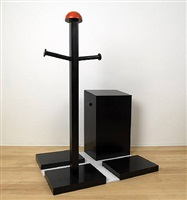 hat stand and bin (homage to malevich) by phillip king