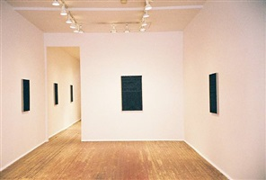 john zurier night paintings exhibition installation view front room