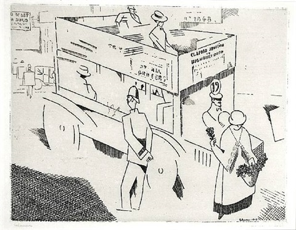le policeman, londres by jean-emile laboureur