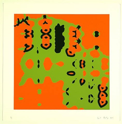 composition 3 in orange and green by carl fudge