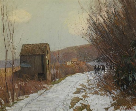 winter road by edward willis redfield