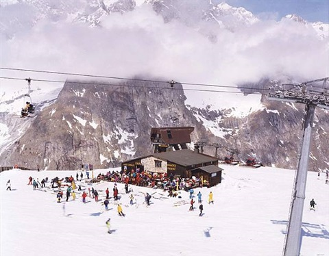 courmayeur, mt. blanc (#0651) by massimo vitali