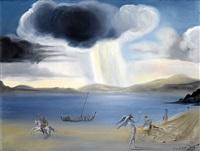 paysage de port lligat by salvador dalí