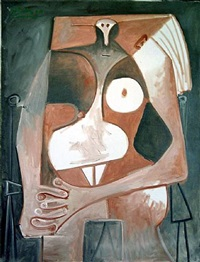 femme nue assise by pablo picasso