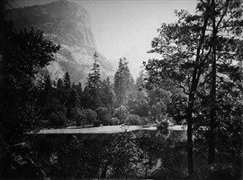 lake ah-wi-yah, yosemite valley by carleton e. watkins