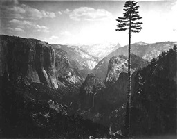 the best general view, yosemite by carleton e. watkins