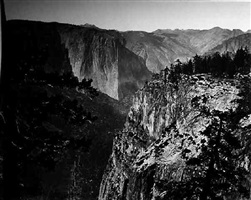 first view of yosemite from mariposa trail by carleton e. watkins