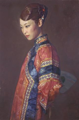 beauty (blue/red) by chen yifei