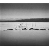 night fishing nets, honshu by michael kenna