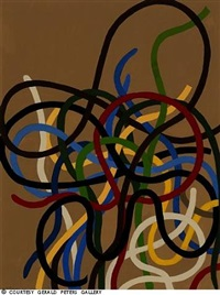 ribbons on a brown ground by garo zareh antreasian