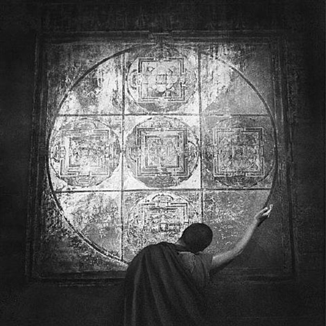 the mandala<br>tibet by caroline halley