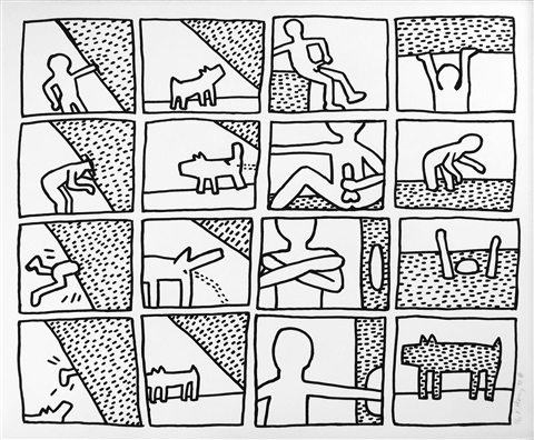 Blueprint drawings 11 by keith haring on artnet blueprint drawings 11 by keith haring malvernweather Image collections