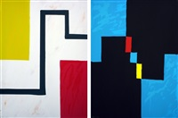 sunday morning and saturday night by mary heilmann
