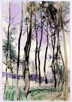 landscape with trees by giovanni boldini