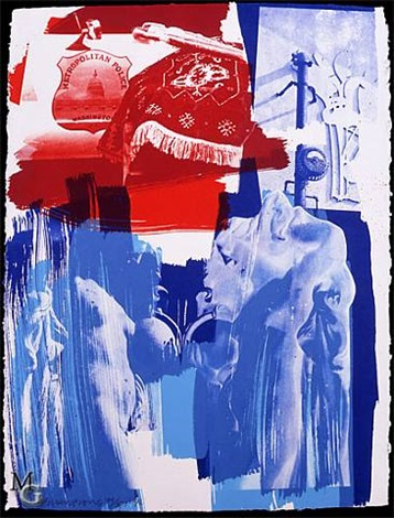 blues by robert rauschenberg