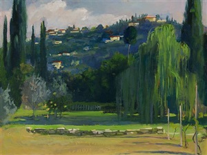 looking up at fiesole by sandra wakeen