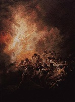 the night fire, after francisco de goya (pictures of pigment) by vik muniz