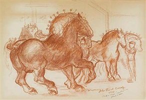 study for prize stallions by john steuart curry