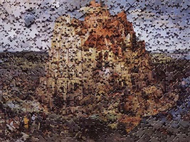 the tower of babel, after pieter bruegel (gordian puzzle) by vik muniz