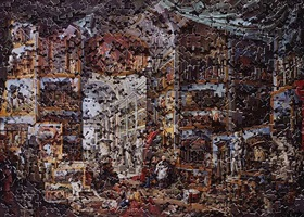 gallery of views of ancient rome, after giovanni paolo panini (gordian puzzle) by vik muniz