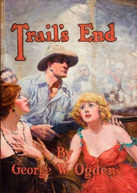 story cover illustration: trails end by percy v.e. ivory