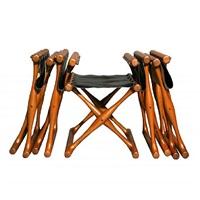 set of five folding stools by poul hundevad