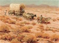 wagon trail by harvey william (bud) johnson