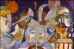 deep river quartet by romare bearden