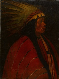 portrait of an indian cheif by winold reiss