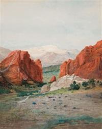 pike's peak from the garden of the gods by h. irving marlatt