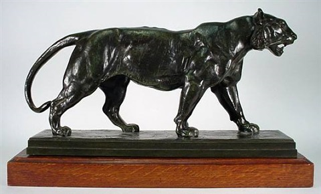tigre marchant by antoine-louis barye