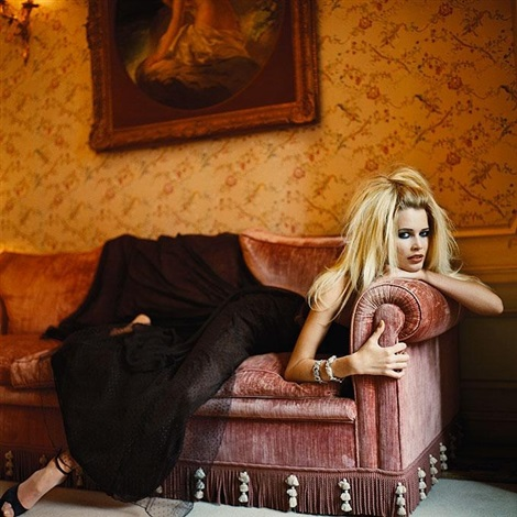 claudia schiffer vogue italia by michel comte