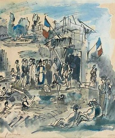 bathers in the cajun quarter in new orléans by jules pascin