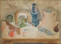 still life on table by jankel adler