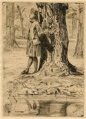 seymour standing under a tree by james abbott mcneill whistler