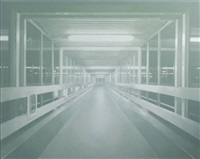 night walkway 6 by paul winstanley