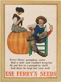 peter, peter, pumpkin eater by maxfield parrish
