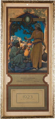 lamp seller of bagdad by maxfield parrish